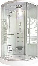 Home Deluxe - Dampfdusche White Pearl 100x100  
