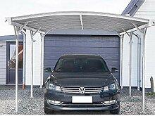 Home Deluxe - Design Carport weiß - Falo - Maße: