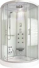 Home Deluxe - Dusche White Pearl (Cr) 90x90 cm I