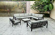 Home Deluxe - Gartensitzgruppe - Rio schwarz -
