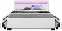 Home Deluxe - LED Bett mit Schubladen – Nube