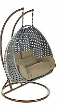 Home Deluxe - Polyrattan Hängesessel - Twin Grau