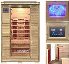 Home Deluxe Redsun M Infrarotsauna | inkl. Keramikstrahler, vielen Extras und komplettem Zubehör | verschiedene Varianten