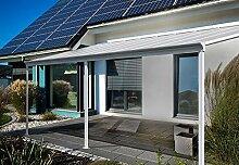 Home Deluxe - Terrassenüberdachung weiß - Maße: