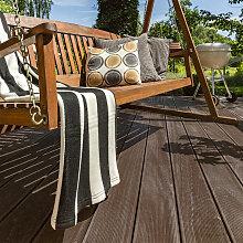 Home Deluxe - WPC Terrassendielen dunkelbraun 2m²