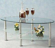 Home Discount Cara Couchtisch Oval Glas klar und