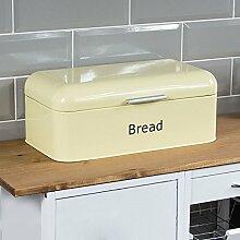 Home Discount® Stahl geschwungene Brotkasten