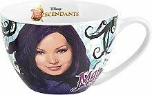 Home Disney Descendants Mal Porzellantasse, Violett, 0.47 Liter, Durchmesser 12 cm