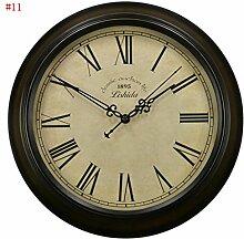 HOME-europäischen retro stumm Wanduhr, antike Taschenuhr Mode Wohnzimmer, amerikanischen Land Nordic Uhr