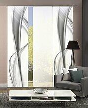 Home Fashion 3er-Set Flächenvorhänge BOURTON,