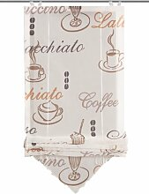 Home Fashion 57232-802 Bändchenrollo Cafe mit