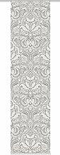 Home Fashion 86204-703 grau H:245 x B:60 cm Schiebevorhang Digitaldruck Novara, Dekostoff-Seidenoptik