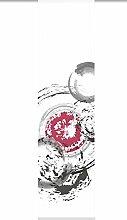 Home fashion 87788-756 Schiebevorhang Digitaldruck Marabo, Dekostoff Seidenoptik, 245 x 60 cm, bordeaux