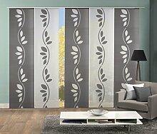 Home Fashion 95004 | 5er-Set Schiebegardine ATERA