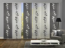 Home Fashion 96004 | 6er-Set Schiebegardine ATERA