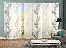 Home Fashion 96972 | 6er-Set Schiebegardinen Welle