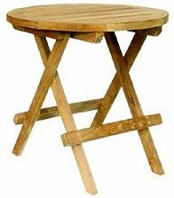 Home-Feeling Teak Beistelltisch Tisch Balkontisch