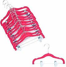 Home-it Baby-Kleiderbügel mit Clips, Pink,