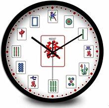 Home Kreative große Quarzuhr Mahjong Wanduhr Feng