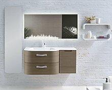Home-Lack Spiegel, Spezialspiegel mit LED Beleuchtung - Städtespiegel Leav HL02S - , B/H: 150x90 cm