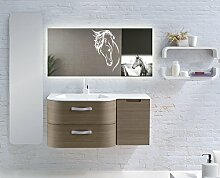 Home-Lack Spiegel, Spezialspiegel mit LED Beleuchtung - Themenspiegel Nory HL07S - , B/H: 100x90 cm