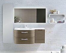 Home-Lack Spiegel, Spezialspiegel mit LED Beleuchtung - Themenspiegel Blord HL15S - , B/H: 150x90 cm