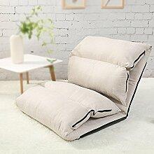 Home Lazy Sofa, Schlafzimmer kleines Sofa / schwimmende Fenster Pad, Tuch Leinen, atmungsaktiv, alle Saison verwenden (Dieses Produkt nur Sofa enthalten) ( Farbe : Weiß )