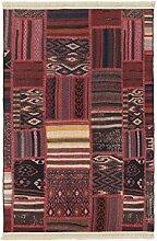 Home Life Teppich mit Patchwork bedruckt, Polyester, mehrfarbig, 67x 300cm