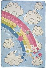 Home Life Teppich mit Regenbogen Baby Design, Polyamid, mehrfarbig, 100x 150cm