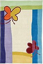 Home Life Teppich mit Schmetterlinge, Acryl, mehrfarbig, 120x 180cm