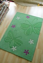 Home Life Teppich mit Star Design, Acryl, Grün, 120x 180cm