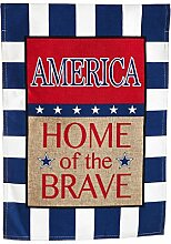 Home of The Brave Garten Flagge