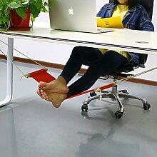 Home Office Fußstütze Arbeit SOHO Computer Schreibtisch Fußstützen Arbeit Tisch Mini Tragbar bequemer Entspannende Bein Hängematte verstellbar orange Fuß, Hängematte Fuß Rest Durch tradepro