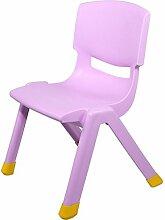 Home / Outdoor Freizeit Stuhl Dicker Kinderstuhl Kindergarten Rückenlehne Stuhl Babystuhl Kunststoff Kinder Lern Tische und Stühle Startseite Rutschfester Hocker BZEI-Stuhl ( Farbe : Lila , größe : 30cm )