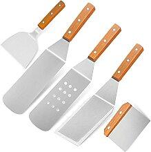 Home Safety Grillbesteck Set - 5-TLG Grillspachtel