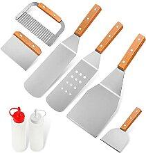 Home Safety Grillbesteck Set - 8-TLG Grillspachtel