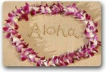 Home & Schürze Custom Fußmatte Hawaiian Flower