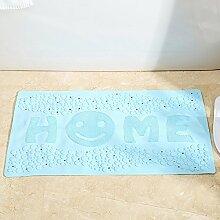 Home Smiley, Badematte, Dusche, Bad Matte, Fußmatte, 38 Cm*70 Cm, Hellblau Home