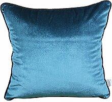 Home Sofa Auto-Dekoration Ornament Halt Überwurf Kissen Weihnachten Valentine Geschenk Moderne und einfache Farbe Bett Kissen Rücken Sofa Kissen, dunkelblau, 40 x 60 cm