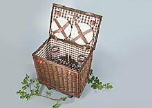 Home & Style Picknickkorb, Föhr, braun, 30 x 30 x 18 cm, 123254C