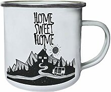 Home, Sweet Home Campervan Retro, Zinn, Emaille