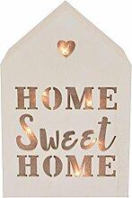 Home Sweet Home leicht bis House geformt Weiß Block Holzschild Geschenkidee