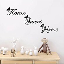 Home Sweet Home Wandaufkleber, Schmetterling,