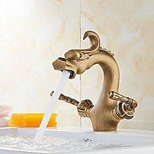 Home Tap Goldene Waschbecken Wasserhahn Retro blau