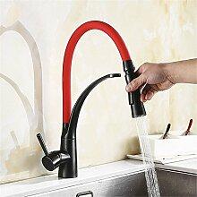 Home Tap Kupfer Pull Becken Wasserhahn heißes und