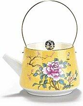 Home Teekanne Teekanne Tragbare handbemalte