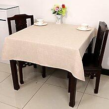 Home tischdecke einfache und moderne tischdecke vintage tischdecke tuch leinen teetisch wärme gestreift romantische tischtuch restaurant tischdecken.mehrere farben.white- 110x110cm(43x43inch)