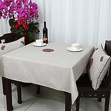 Home tischdecke einfache und moderne tischdecke vintage tischdecke stoff baumwolle leinen teetisch wärme romantische tischtuch restaurant tischdecken.mehrere farben.white- 120x160cm(47x63inch)