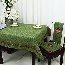 Home tischdecke einfache und moderne tischdecke vintage tischdecke stoff baumwolle leinen teetisch wärme romantische tischtuch restaurant tischdecken.mehrere farben.grün-grün 150x210cm(59x83inch)