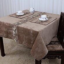Home tischdecke einfache und moderne tischdecke vintage tischdecke stoff baumwolle leinen teetisch wärme romantische tischtuch restaurant tischdecken.mehrere farben.-E 140x180cm(55x71inch)